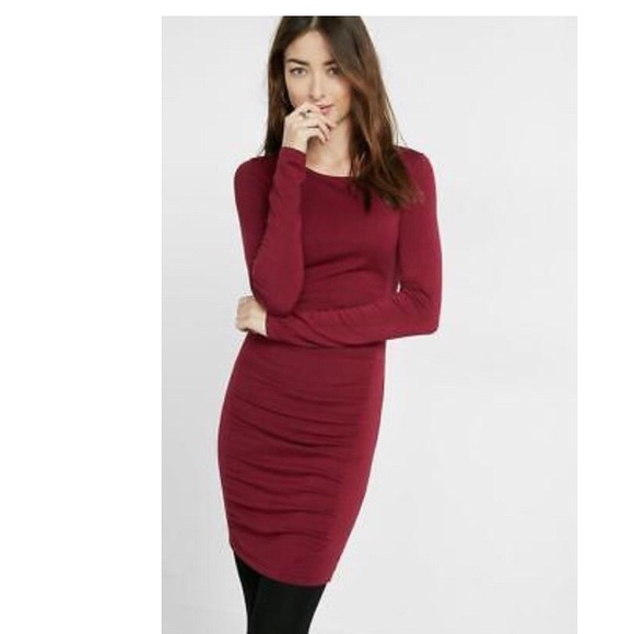 Burgundy Sweater Dress